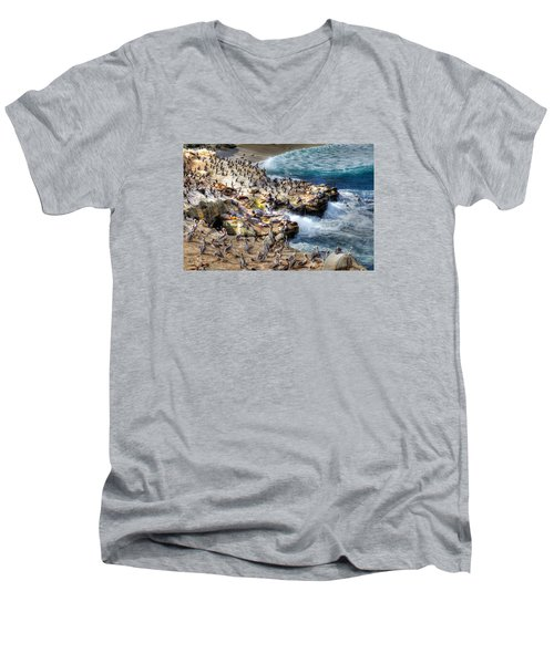 La Jolla Cove Wildlife Men's V-Neck T-Shirt