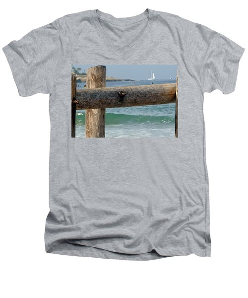 Men's V-Neck T-Shirt featuring the photograph La Jolla Scene by Susan Garren