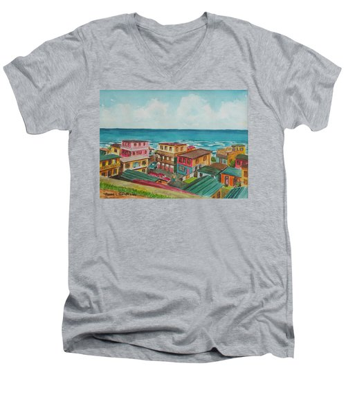 La Perla San Juan Pr Men's V-Neck T-Shirt