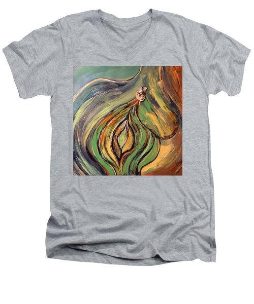 La Semilla - The Seed Men's V-Neck T-Shirt