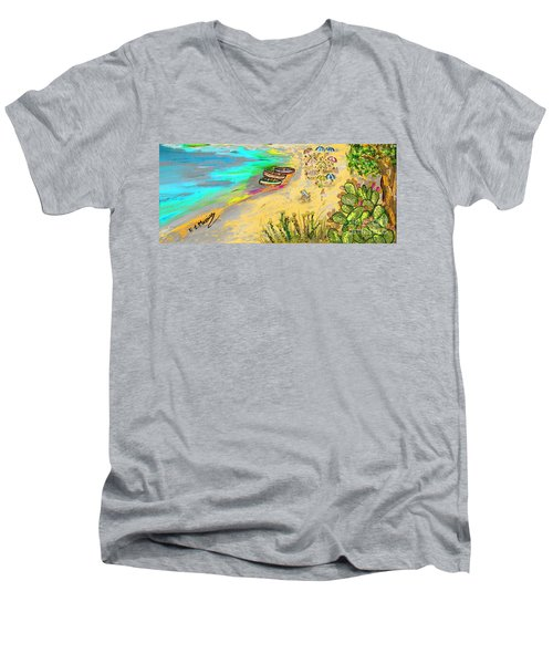 La Spiaggia Men's V-Neck T-Shirt