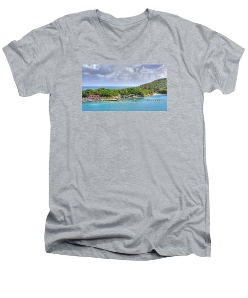 Labadee Men's V-Neck T-Shirt by Shelley Neff
