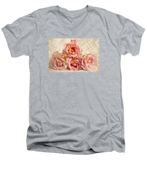 Lace And Roses Men's V-Neck T-Shirt