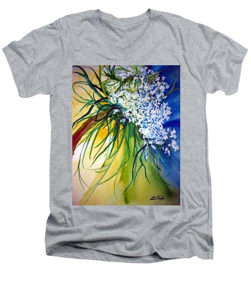Lace Men's V-Neck T-Shirt by Lil Taylor
