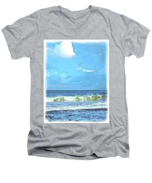 Lacount Hollow Men's V-Neck T-Shirt