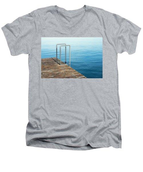 Men's V-Neck T-Shirt featuring the photograph Ladder by Chevy Fleet