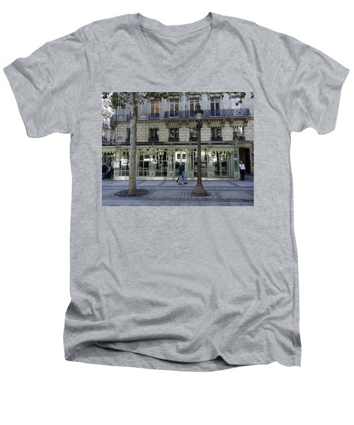 Laderee On The Champs De Elysees In Paris France  Men's V-Neck T-Shirt