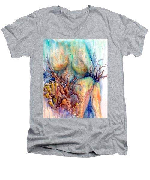 Lady In The Reef Men's V-Neck T-Shirt