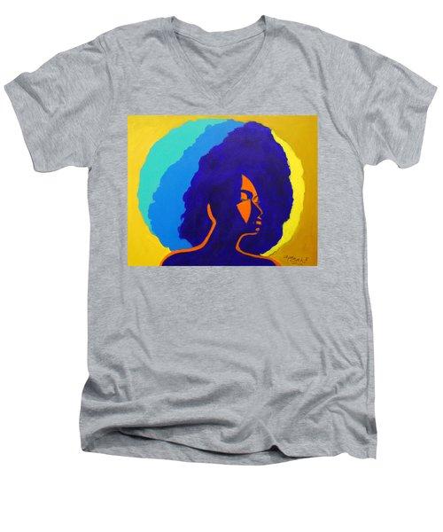 Lady Indigo Men's V-Neck T-Shirt