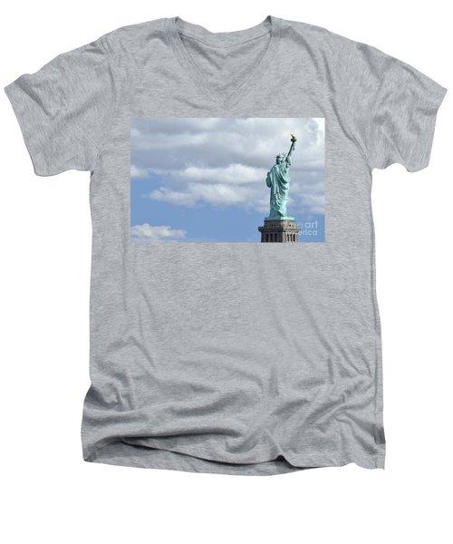 Lady Liberty   1 Men's V-Neck T-Shirt by Allen Beatty