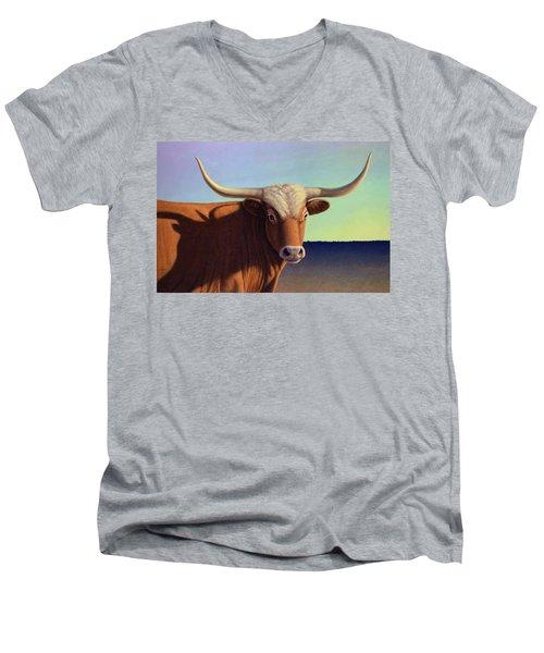 Lady Longhorn Men's V-Neck T-Shirt