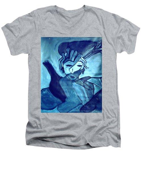 Lady Madonna  Men's V-Neck T-Shirt