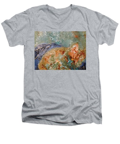 Lady The Cat Sleeping Soundly And Peacefully Men's V-Neck T-Shirt