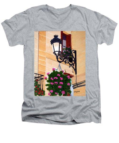 Laguardia Street Lamp  Men's V-Neck T-Shirt