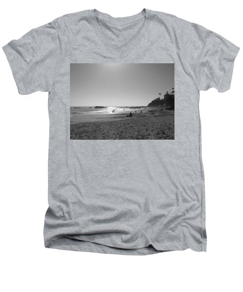 Laguna Sunset Reflection Men's V-Neck T-Shirt by Connie Fox