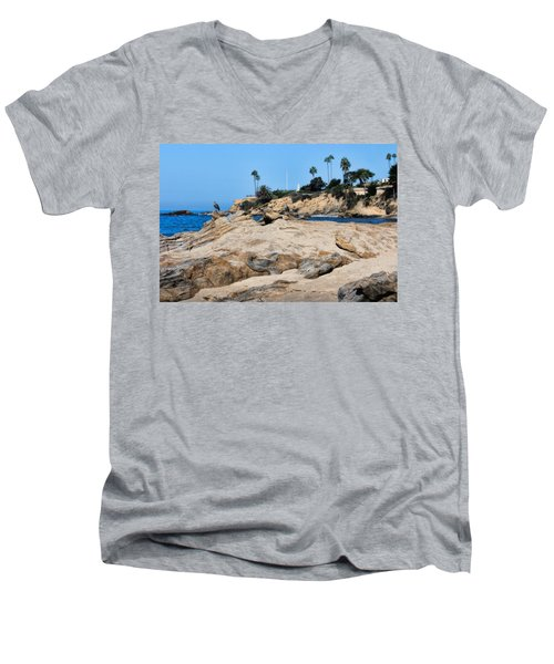 Men's V-Neck T-Shirt featuring the photograph Laguna by Tammy Espino