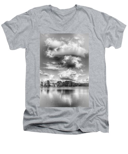 Lake De Soto Men's V-Neck T-Shirt by Howard Salmon