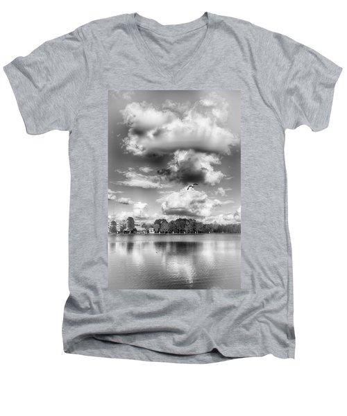 Men's V-Neck T-Shirt featuring the photograph Lake De Soto by Howard Salmon
