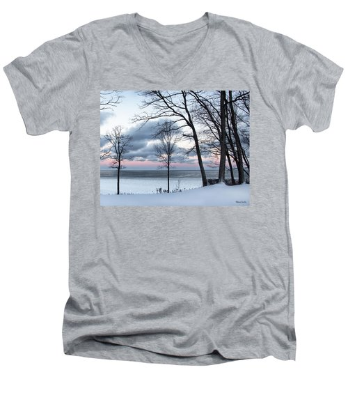 Lake Erie Sunrise Men's V-Neck T-Shirt