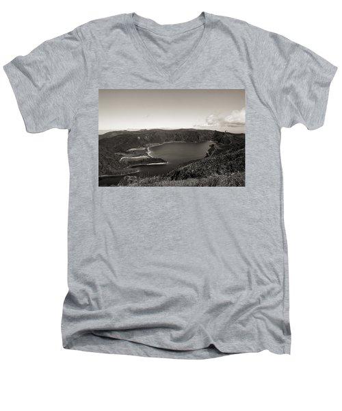 Lake In A Crater Men's V-Neck T-Shirt