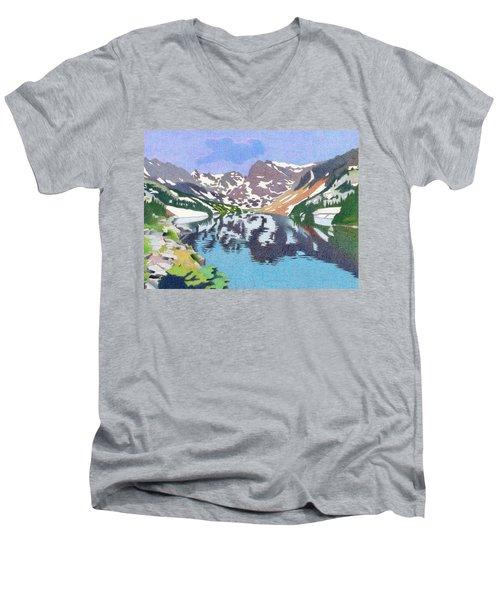 Lake Isabelle Colorado Men's V-Neck T-Shirt by Dan Miller