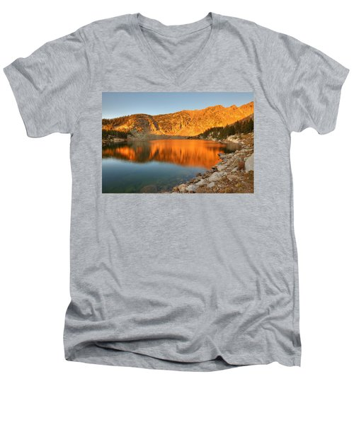 Lake Katherine Sunrise Men's V-Neck T-Shirt