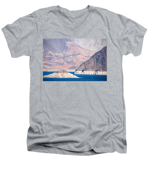 Men's V-Neck T-Shirt featuring the photograph Lake Mead National Recreation Area by John Schneider