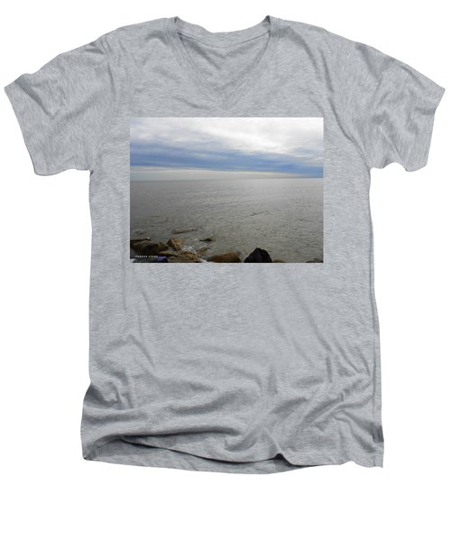 Lake Michigan 3 Men's V-Neck T-Shirt by Verana Stark