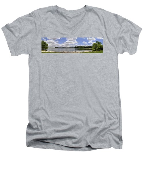 Men's V-Neck T-Shirt featuring the photograph Lake Of Dreams by Verana Stark
