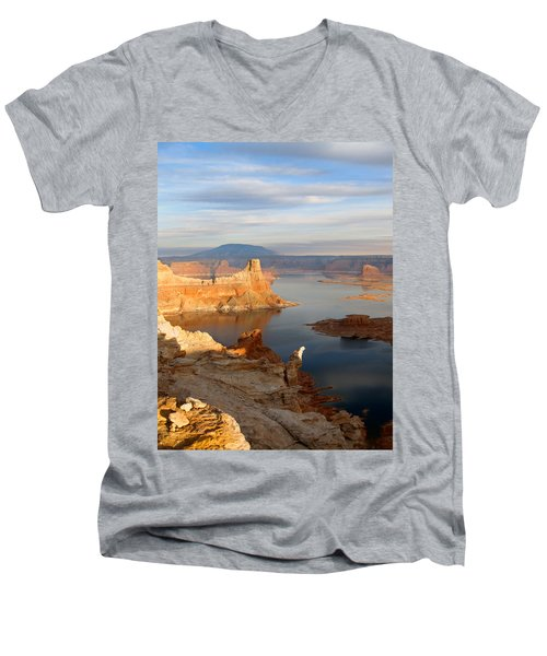 Lake Powell From Alstrum Pt 12 Men's V-Neck T-Shirt