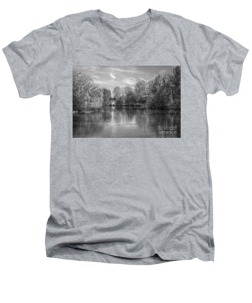 Lake Reflections Mono Men's V-Neck T-Shirt