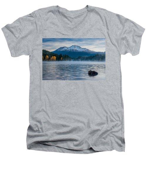 Lake Siskiyou Morning Men's V-Neck T-Shirt