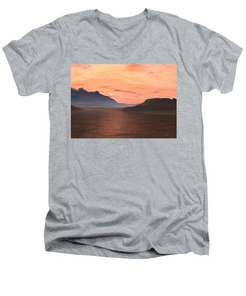 Lake Sunset 1 Men's V-Neck T-Shirt