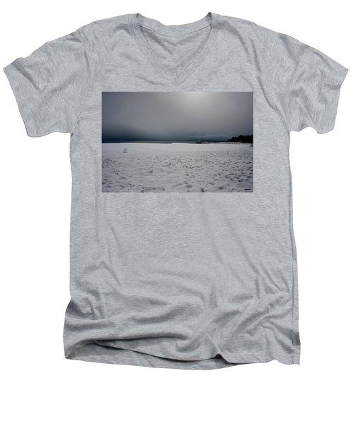 Lake Tahoe Winter Men's V-Neck T-Shirt