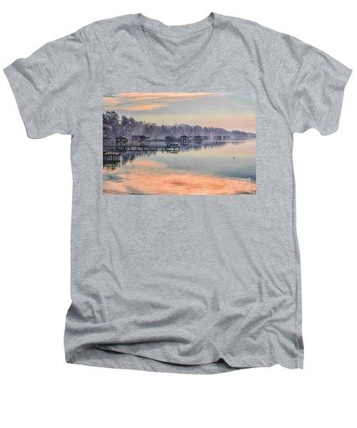 Lake Waccamaw Morning Men's V-Neck T-Shirt