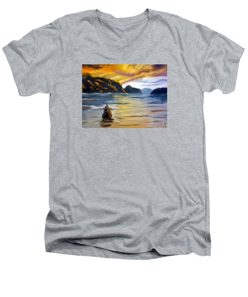 Lake Wahatipu Queenstown Nz Men's V-Neck T-Shirt
