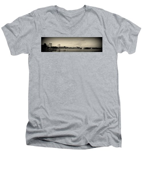Men's V-Neck T-Shirt featuring the photograph Lakeland by Laurie Perry