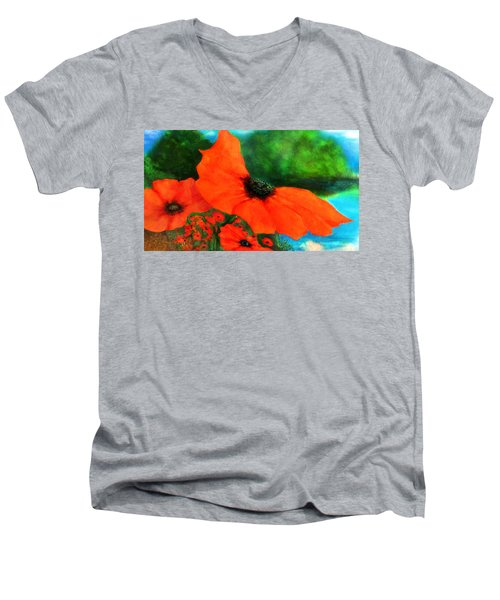 Lakeside Bloom Men's V-Neck T-Shirt