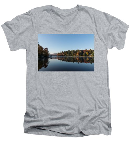 Lakeside Cottage Living - Peaceful Morning Mirror Men's V-Neck T-Shirt