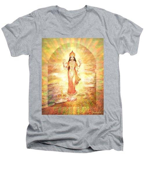 Lakshmis Birth From The Milk Ocean Men's V-Neck T-Shirt