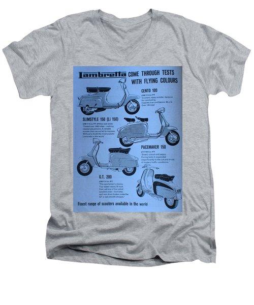 Lambretta Style Men's V-Neck T-Shirt