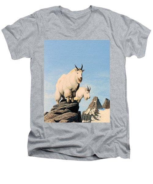Lamoille Goats Men's V-Neck T-Shirt