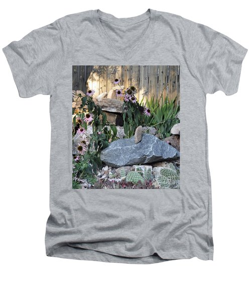 Men's V-Neck T-Shirt featuring the photograph Landscape Formations by Minnie Lippiatt