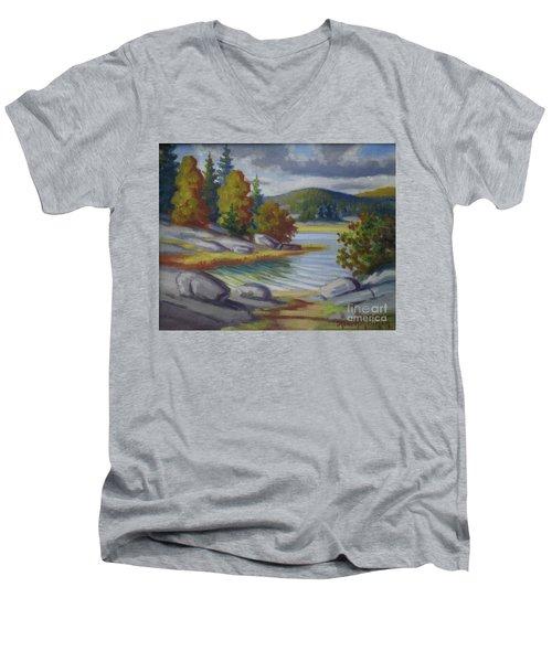 Landscape From Finland Men's V-Neck T-Shirt