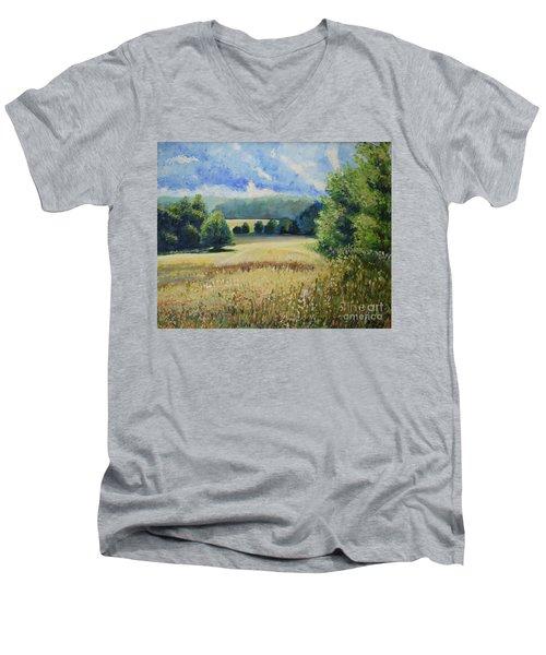 Landscape Near Russian Border Men's V-Neck T-Shirt