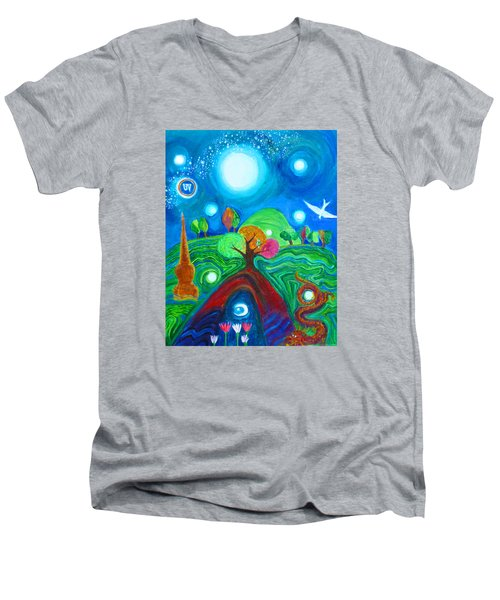 Landscape Of Ancient Dreams Men's V-Neck T-Shirt