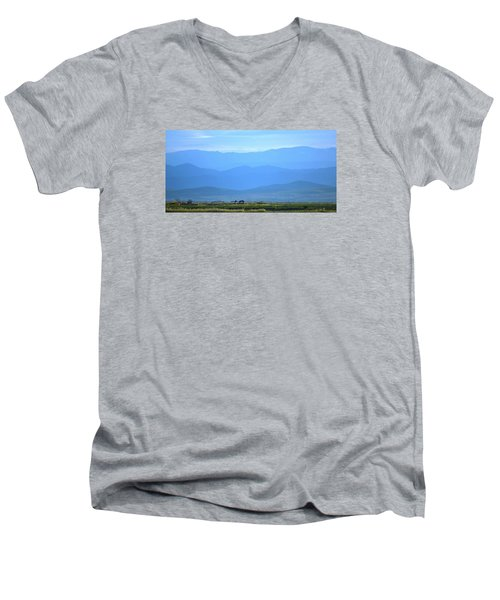 Men's V-Neck T-Shirt featuring the photograph landscape of North CA by Rima Biswas