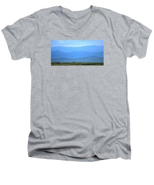 landscape of North CA Men's V-Neck T-Shirt