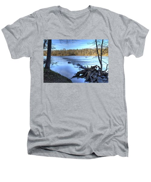 Landsford Canal-1 Men's V-Neck T-Shirt