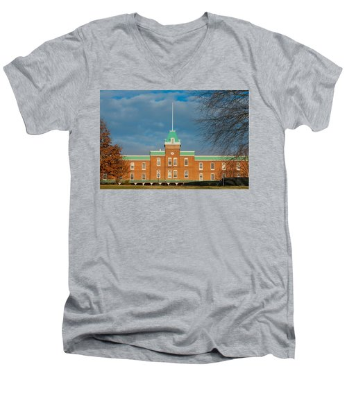 Lane Hall At Virginia Tech Men's V-Neck T-Shirt